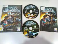 STAR WARS Republic Commando Set para PC 2 X Cd-Rom Ausgabe Spanien - Am