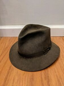 Vintage Christys London Hat 7 5/8 Or 62 100% Fur Felt