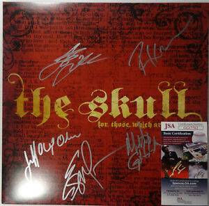 SIGNED THE SKULL AUTOGRAPHED FOR THOSE WHICH ARE ASLEEP RED VINYL LP JSA GG17762