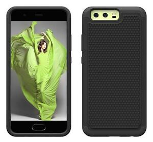 Fits Huawei P10 Plus Case Heavy Duty Impact Shockproof Hybrid Cover - Black