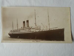 """RMS """"ADRIATIC"""" White Star Line Giant Card Book Post (10.5x5.5 inches) c1910 RPPC"""