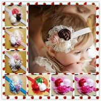 elastische kleinkind turban baby - stirnband spitzen - seide blumen haarband