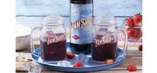 More details for set of 2 x jam shed shiraz mulled wine 450ml mason jars glasses brand new