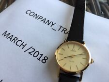 1970's NOS Omega De Ville Gold Plated Hand-Winding Vintage 24mm LADIES WATCH
