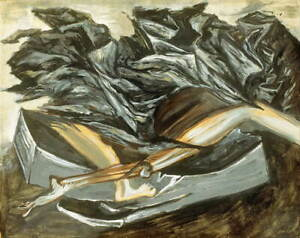 Jose Clemente Orozco Death and Resurrection Poster Giclee Canvas Print