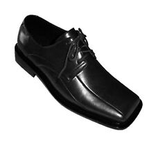 Men's Solid Dress Shoes Man-Made Leather w/ Square Toe #3391 Black, Brown & Gray