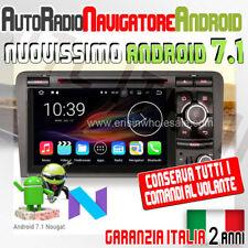 AUTORADIO ANDROID 7.1 AUDI A3 2003-2011 S3 RS3 RNSE-PU GPS Navi Stereo QuadCO...