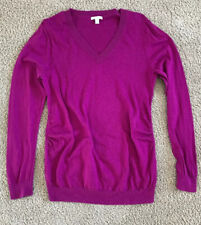 Gap Maternity L Purple Silk Mix V-neck Pullover Sweater