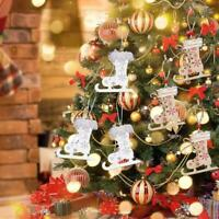 3Pcs Christmas Decor Wooden Ornament Xmas Tree Hanging Pendant Best