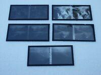 Cinq  plaques verre 6 X 13 stéréoscopique La mer de glace en 1919