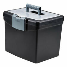 Portable File Box With Large Organizer Lid Letter Files 1325 X 1088 X 11