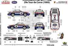 [FFSMC Productions] Aufkleber 1/32 Porsche SCRS Tour de Korsika 1985