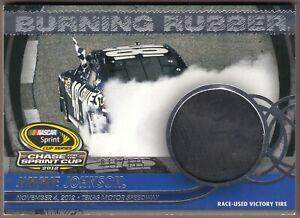 2013 Total Memorabilia JIMMIE JOHNSON Burning Rubber Chase TIRE BRC-JJ2; 11/175