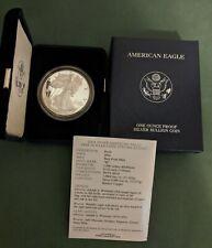 2004-W Proof Silver American Eagle w/Box+ Case + COA