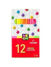 Colleen 12 Colors 12 Pencils Art Neon Draw Best Round High Quality Wood Thailand