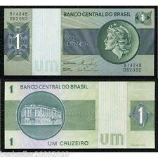 BRAZIL 1 CRUZADOS BEAUTIFUL NOTE UNC # 876