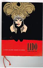 ANCIEN PROGRAMME LIDO 1968 PARIS
