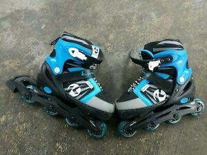 Kryptonics Boom - boys kids Inline Skates - Blue & Black - Adjustable Size 5-8