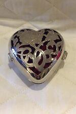 "Lenox Silver Plated ""Giving Heart"" Jewelry Box, Keepsake"