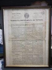 1845 Gazette Privilegiata De Venise - Empire Autrichien Russe Histoire Venise