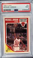 1989 Fleer #21 Michael Jordan Chicago Bulls PSA 9 MINT - New PSA Label!