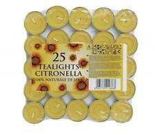 Citronnelle Thé Lumière Bougie Bougies cire (Lot de 25)