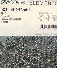 1028 PP7 LUM* 50 STRASS SWAROVSKI FOND CONIQUE 1028 PP7 (1,38mm)  LUMINOUS GREEN