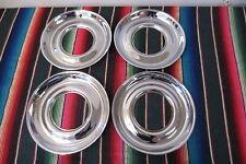"NOS 15"" Chrome Beauty Trim Rings Hubcaps 1940's 1950's GM Ford Mopar Accessory"