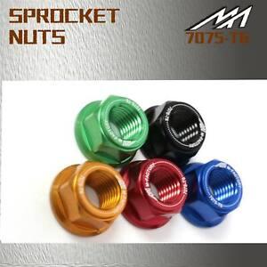 Black CNC Rear Sprocket Nuts Set Fit Honda VFR800 VTEC 02-05