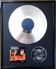 """Metallica Reload gerahmte CD Cover +12"""" Vinyl goldene/platin Schallplatte"""
