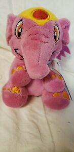 "Neopets PINK ELEPHANTE Plush Toy Stuffed Animal 5.5"" KEYQUEST Ser 6 NEW w/code"