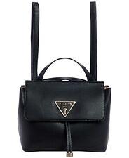 Guess Aretha Black Backpack Convertible Crossbody Handbag