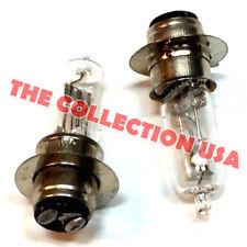 2 Head Light Bulbs 12v 18/18 Watt 50cc 70 90 110 125 150cc Atv Scooter Go Kart