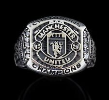 with Black Oxidized, size 8-14 Manchester United Champions, Sterling Silver