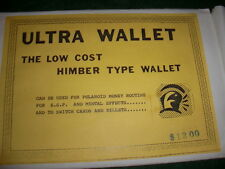 Ultra Wallet ...The Low Cost Himber type Wallet