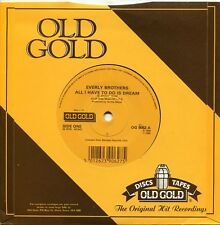 """Everly Brothers """"All I Have To Do Is Dream"""" - U.K. Old Gold 45rpm"""