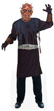 Halloween Mens Zombie Costume Hell Raiser Pin Head Fancy Dress Outfit & Mask New