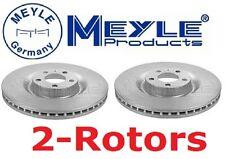 Set of 2 Meyle Brand GEOMET®Anti Rust Coated Front Brake Rotors  A4 S4 345-O.D.