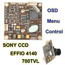 """700TVL Effio-E 1/3"""" SONY Super HAD CCD II Color Camera Board OSD MENU  3.6mm 8mm"""