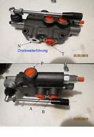 Doppeltwirkendes Handhebelventil - Hydraulik,  Handsteuerventil Qmax 50 Lt/min