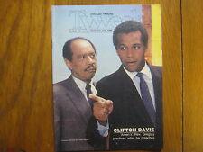 Nov. 2, 1986 Chicago Tribune TV Week(AMEN/CLIFTON DAVIS/SHERMAN HEMSLEY/ROZ RYAN