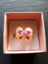 Brand new yellow butterfly childs ring size G.5! Childrens kids jewellery!