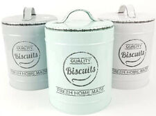 Barattolo in Latta per Biscotti Stile Shabby Chic Vintage biscottiera portabisco