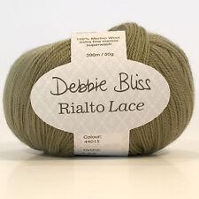 Debbie Bliss Rialto Lace Shade 15/Sage 100% Extra Fine Merino Wool 5x50g Bag