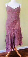 Per Una Floral Summer Dress Size 16 Fish Tail Asymmetrical Ditsy Tea Strappy