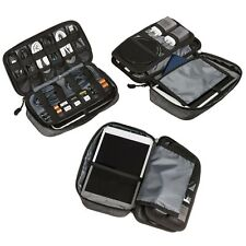Electronics Organizer Travel Tech Case - Charge Cord, Slim Gadget, Charger Or...