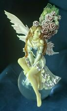 Mystical Fairy Figurine Statue Fantasy Mythical Magic Magical Glass Orb Resin
