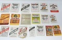 Vintage Authentic Kentucky Bourbon Labels 19 Labels Mountain Corn Cap'n Jack NOS