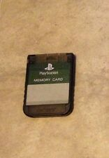 Playstation 1 Official Sony Brand memory card in CLEAR GRAY Charcoal color one