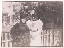 VINTAGE 1897 STRATFORD CONNECTICUT VICTORIAN WOMEN FASHION OLD HATS HOUSE PHOTO